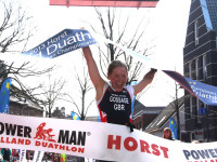 Lucy Gossage wins Powerman Holland